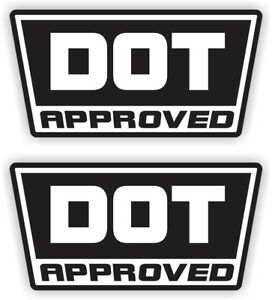 2 DOT Approved Motorcycle Helmet Stickers \ Decals \ D.O.T. Hard Hats 2-pack