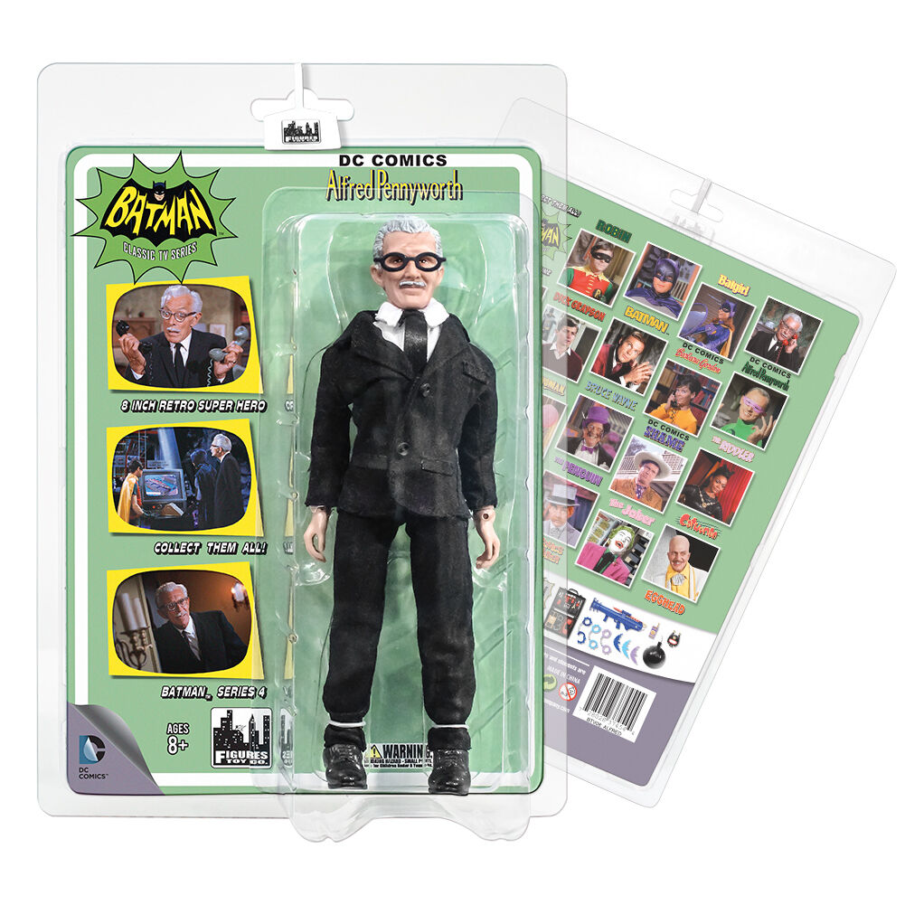 Batman 66 Classic TV Show Retro Style 8 Inch Figures Series 4  Alfred Pennyworth