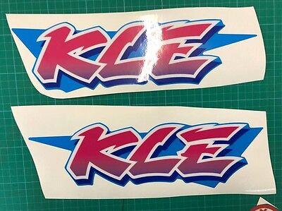 Kawasaki Kle Sticker Decal  Graphic Bike 500 Faring red//blue