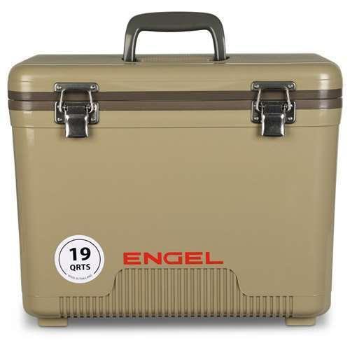 Engel Coolers 19 Quart Lightweight Insulated Cooler Drybox, Tan (Open Box)