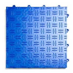 GarageTrac in ROYAL BLUE 24 Pack Diamond Garage & Shop Flooring MADE IN THE USA