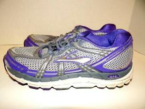 2f40be1766e Brooks Addiction 11 Womens Size 7B Purple Gray Silver Running Shoes ...