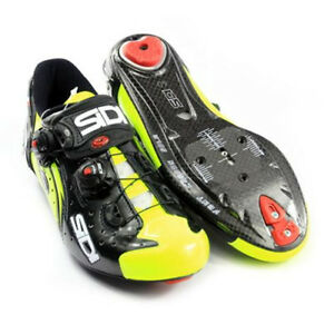 SIDI Wire Carbon Road Cycling Shoes Yellow Fluo//Black