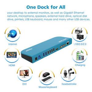 Estacion-de-acoplamiento-universal-wavlink-USB3-0-admiten-doble-monitor-de-video-Color-Azul