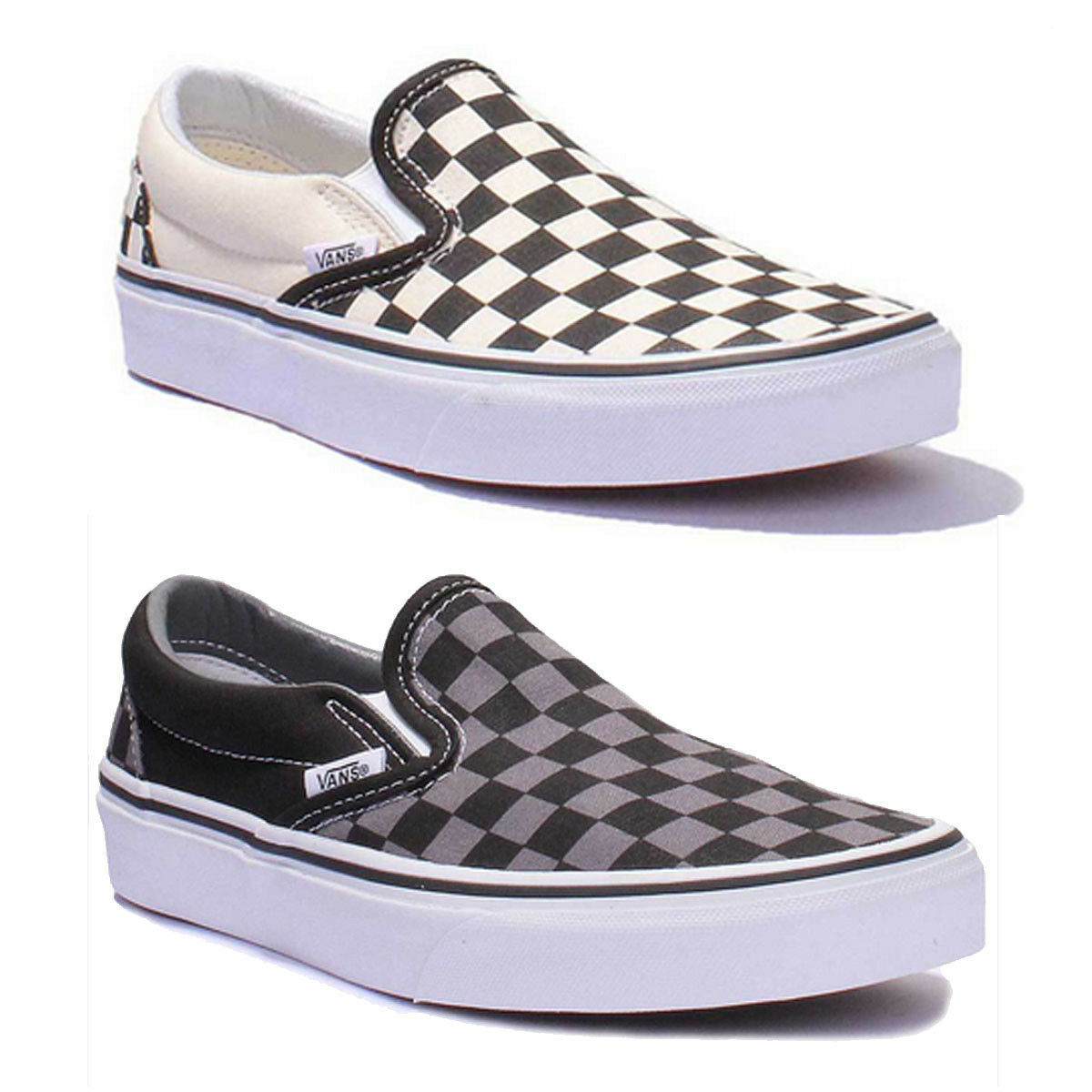 Vans Canvas Checkerboard Slip On Damens Canvas Vans Trainer 3 - 8 09a3a6