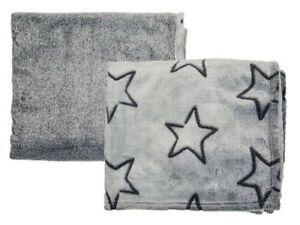 Details Zu Kuscheldecke Grau Mit Sternen 130x160 Cm Tagesdecke Wohndecke Wohlfuhldecke