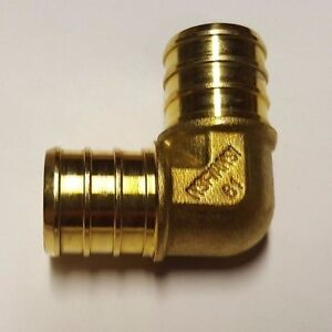 25-PIECES-3-4-034-PEX-ELBOW-BRASS-CRIMP-FITTINGS-LEAD-FREE