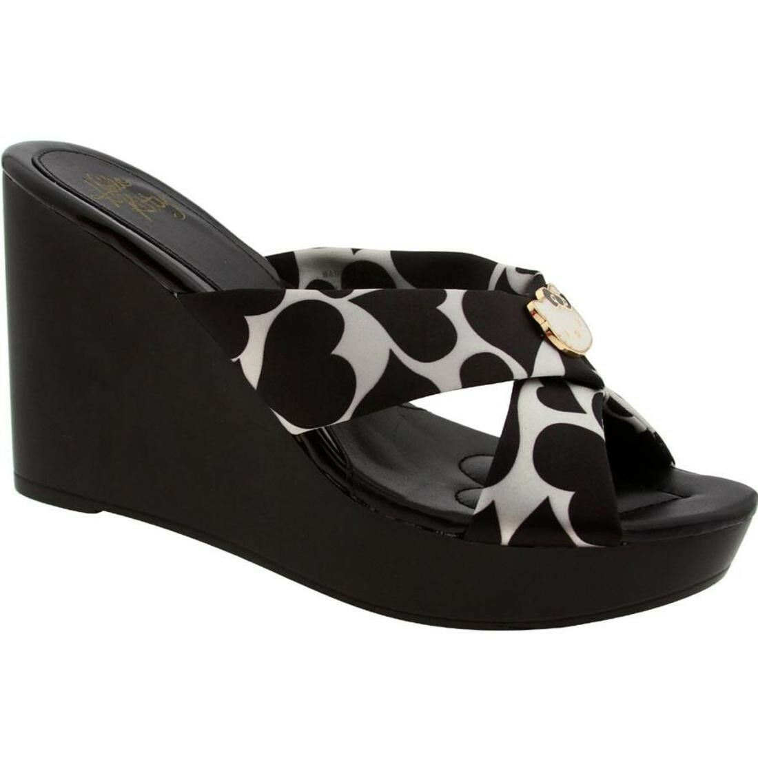 .99 Hello Kitty Damenschuhe Felice Heels Schuhes (schwarz print) MW1D03-BPT