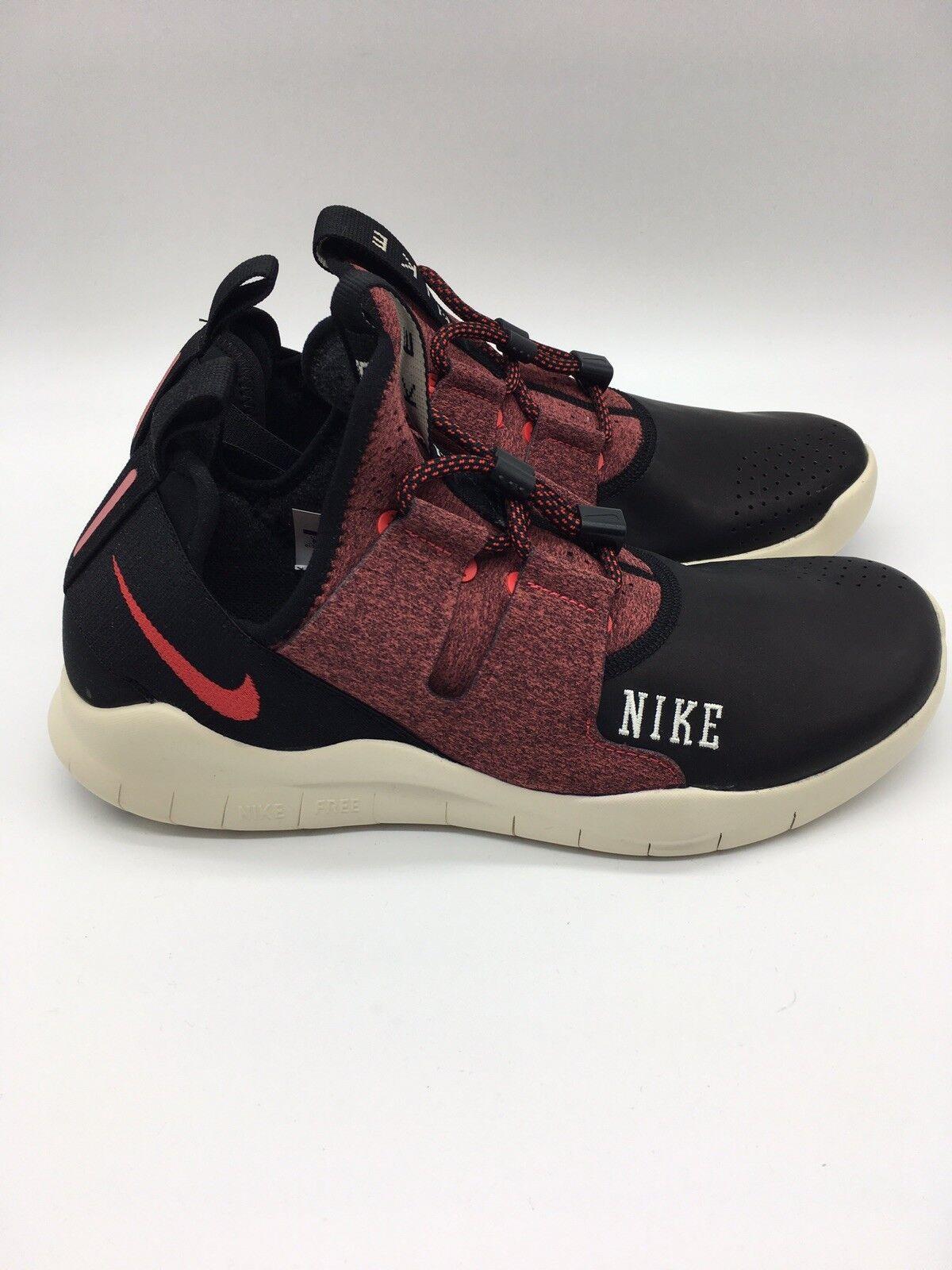 Nike Free RN CMTR 2018 Varsity Mens shoes 8.5 Black University Red Commuter