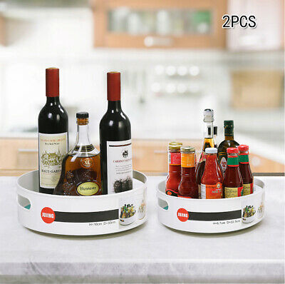 Evelots 2 Tier Lazy Susan-Space Saver-Organizer Spinning Turntable Non-Skid