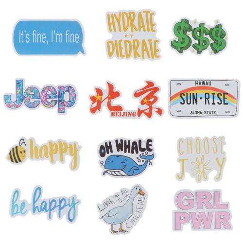 50Pcs Cartoon Waterproof Sticker to DIY Laptop Bicycle Helmet Car Dec bcLDUK
