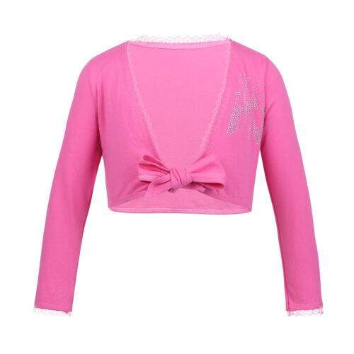 Ballettjacke Wickeljacke Bolero Jacke für Mädchen Rosa Weiß Pink Lavendel Blau