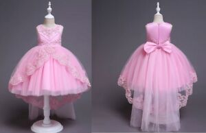 Kids-Flower-Girl-Bow-Princess-Dress-for-Girls-Party-Wedding-Bridesmaid-Gown-ZG9