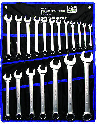 BGS Germany 19-pieces Mechanics Open and Ring Ended Spanner Set Metric 8-32 mm