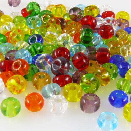 1480 Rocaille 150 Saint 4//0 perles de verre-Mix 5 mm Coloré rocaillesperlen pour bricolage