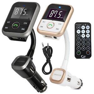 Wireless-Bluetooth-Car-MP3-Player-FM-Transmitter-Radio-LCD-SD-USB-Charger-Kit