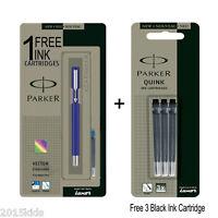 Parker Vector Standard CT Fountain Pen Blue Body - Free 1 Blue & 3 Black Ink