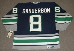 ... Jerseys eBay Image is loading GEOFF-SANDERSON-Hartford-Whalers -1993-CCM -Vintage ... 245045f6b