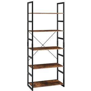 Homfa-Ladder-Shelf-5-Tier-Bookshelf-Storage-Rack-Display-Shelving-Unit-Stand-NEW