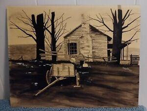 VINTAGE ORIGINAL PEN AND INK WASH DRAWING BY R. GRESKO