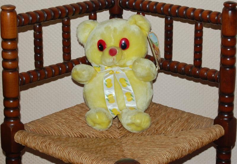 Vintage Gelb Lemon Fruit Teds Teddy Bear Woodland Bear Co UK