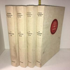 Connaissance-des-arts-LA-DECORATION-Tomes-1-2-3-4-complet-ed-Hachette-YY-14322