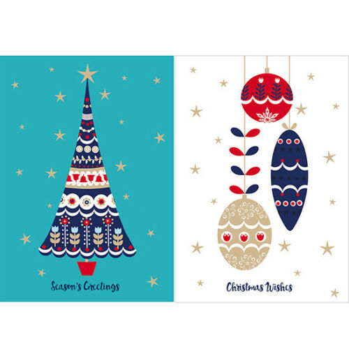 5 of Each Help For Heroes Christmas Card Pack - Oh Christmas Tree Medium