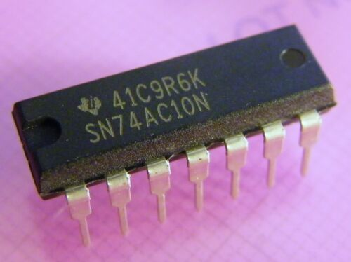 Texas Instruments 10x SN74AC10N triple 3-input NAND-gate