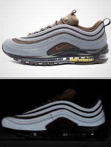 Details about Nike Air Max 97 Premium 'Reflective' AV7025 001 Grey Brown UK 6 EU 39 24.5cm New