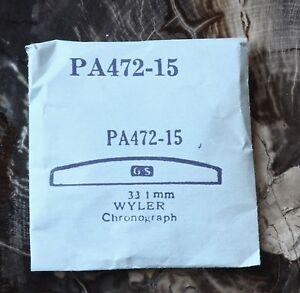 Vintage-Wyler-chronograph-NOS-watch-crystal-33-1mm-G-S-part-PA472-15-in-package