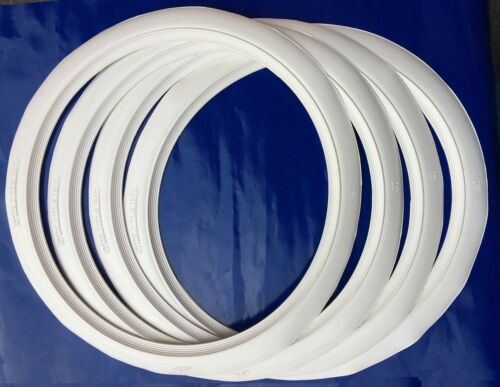 "4X17/"" WHITE WALL TYRE TRIMS  NEW VW BEETLE VW VAUXHALL JAGUAR FORD CHEVY HOT ROD"