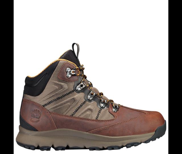 Men's Timberland Millen Peak Mid Waterproof Hiking Boots Brown TB0A1LDO931