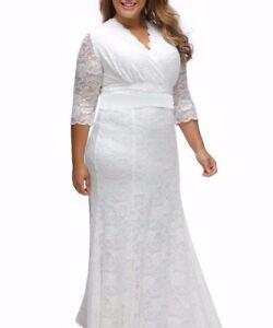 White Plus Size Beautiful Wedding Gown Dress Xl Xxl Valentines Day
