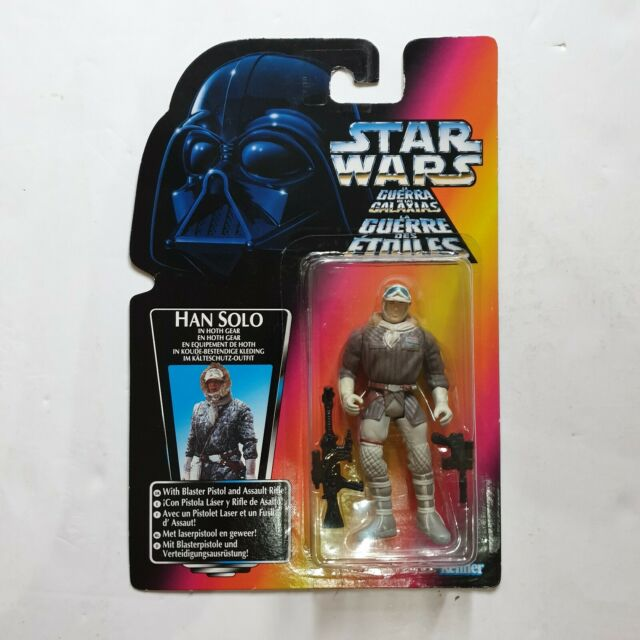 """STAR WARS Han Solo In Hoth Gear Red Card Tri-Logo Kenner 3.75"""" Figure NEW SEALED"""
