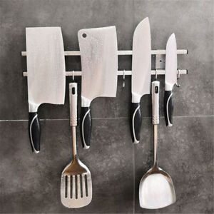Stainless-Steel-Wall-Mount-Magnetic-Knife-Storage-Holder-Rack-Kitchen-Tool