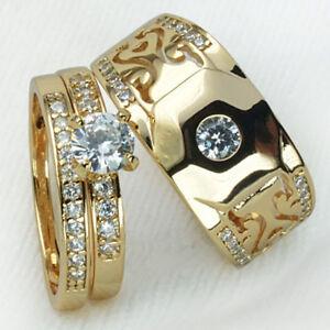 EG-New-Unisex-Rhinestone-Finger-Ring-Band-Couple-Lovers-Engagement-Jewelry-Late