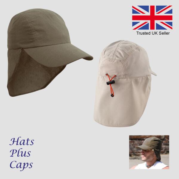 Abundante Gorra Sombrero De Sol Uv Cuello Legionarios Protección Upf Verano De Microfibra Ligero-ver Extremadamente Eficiente En La PreservacióN Del Calor