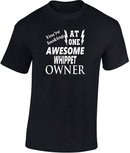 Awesome Whippet Fathers  T-Shirt Funny Gift Dog Trainer