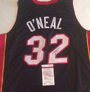 41f25ac0e Shaquille O Neal Signed Miami Heat Jersey (JSA COA)4×NBA champion ...