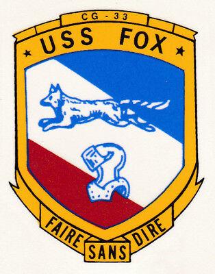 USS FOX CG 33 DLG 33 Parking Sign U S Navy USN Military