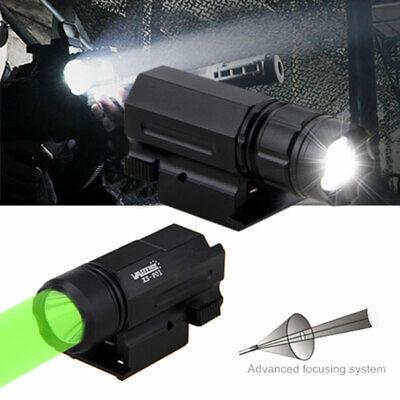Tactical Green White Hunting Light Flashlight Fits 20mm Weaver Picatinny Rail