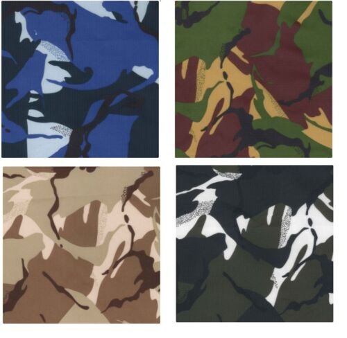 """Water Resistant Army Military Camouflage Fabric 59/""""//150cm wide Material RIPSTOP"""
