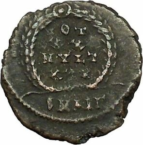 CONSTANTIUS-II-Constantine-the-Great-son-Roman-Coin-Wreath-of-success-i34834