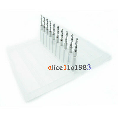 10PCS 0.8mm Micro Mini Carbide steel Engraving Drill Bit PCB press CNC Dremel