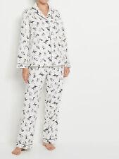 Sussan Women's Cat Print Flannelette Pyjama Set in Neutral