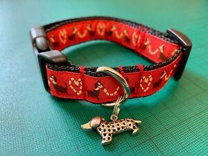 Dachshund sausage dog collar or lead handmade grooming puppy k9