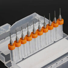 10Pcs 0.8mm PCB Print Circuit Micro Drill Bits Board Carbide CNC Engraving Tool
