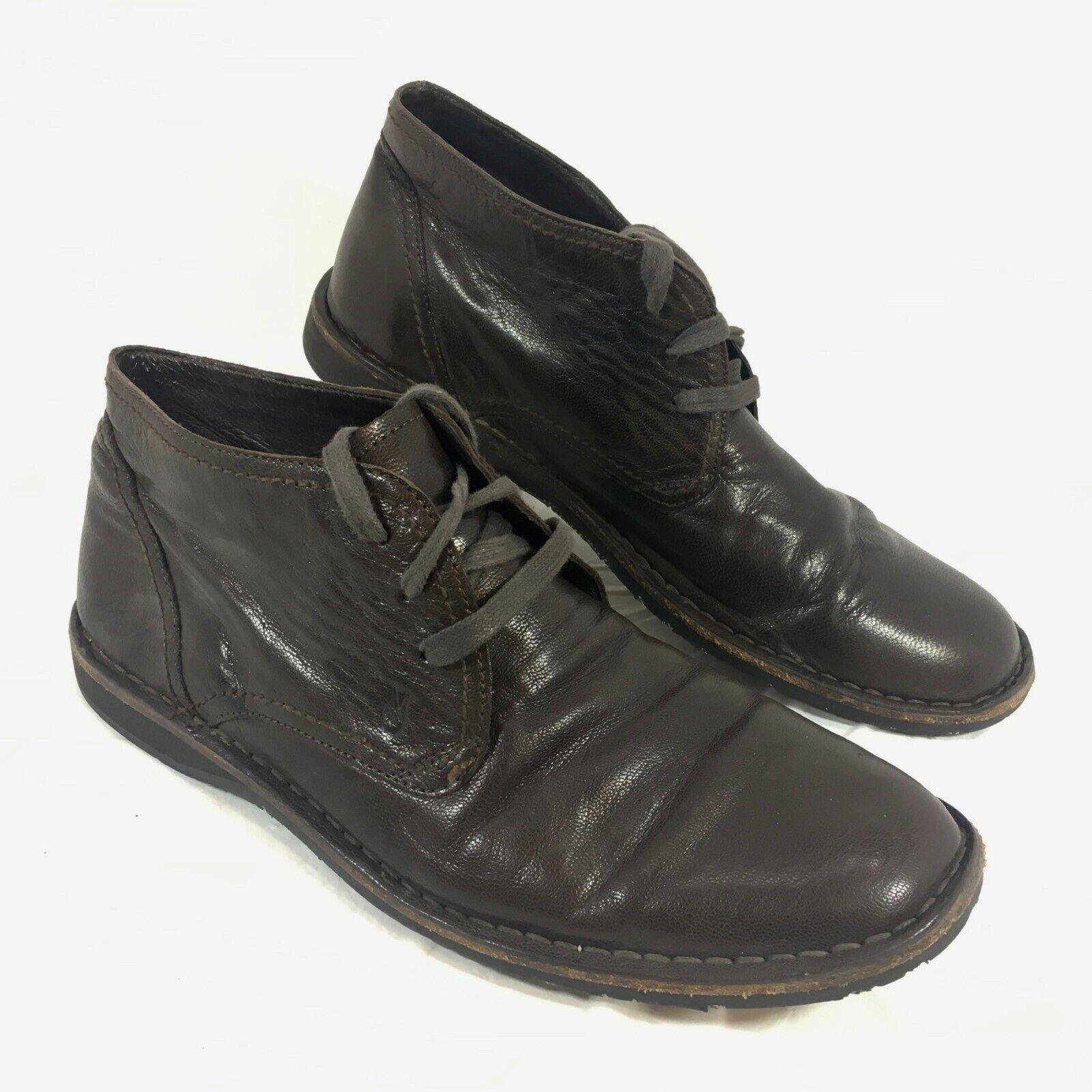 GUC Men's John Varvatos Brown Leather low Ankle Boots Sz 10 M