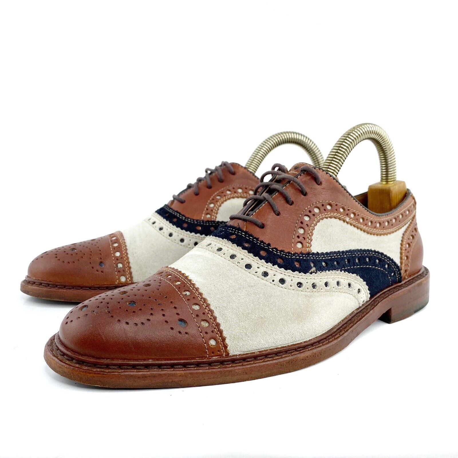Johnston Murphy EST 1850 Derby Cap Toe Men Leather Shoes Size 8M Limited Edition