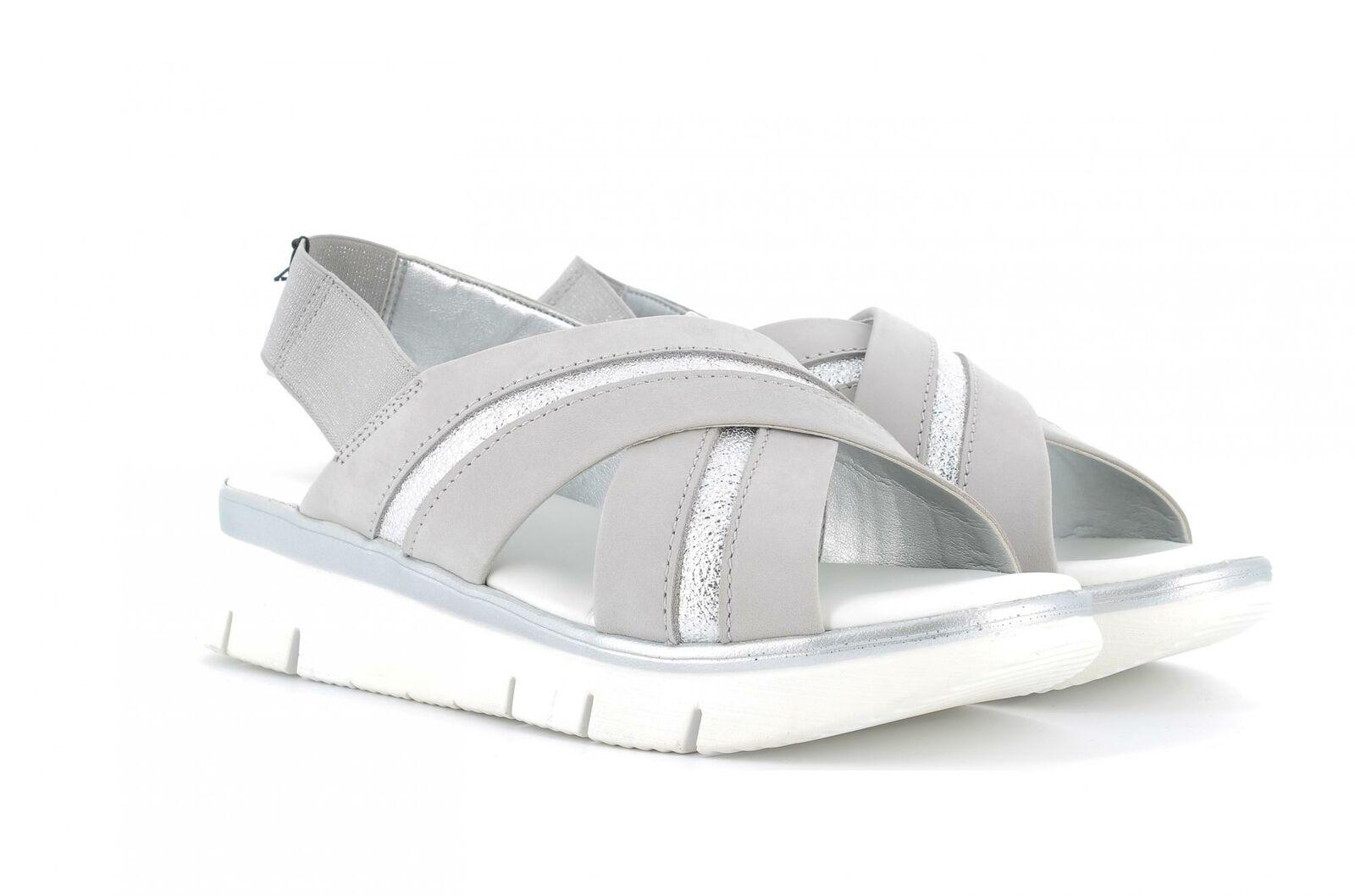 The Flexx P19g Schuhe Frau Keil Sandalen D2016 22 HOWARD grau Silber